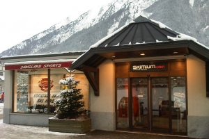 ski equipment shop chamonix